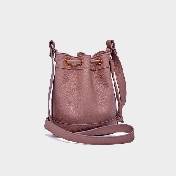 Amira Bags Mini Bucket in Tourmaline Leather